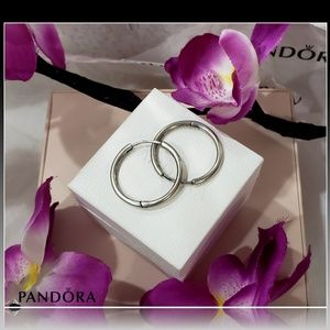 🌺 PANDORA Silver Hoops Earring 🌺